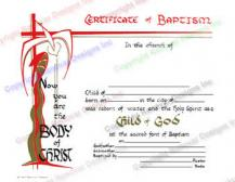 701 Child of God - Baptism Certificate