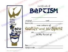 105 Water and the Spirit - Personalized Baptism Certificate