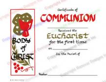 108 Body of Christ - Personalized Holy Communion Certificate