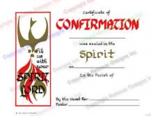 106 Spirit - Personalized Confirmation Certificate