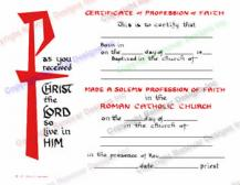 204 Profession of Faith Certificate
