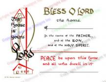 201 This House is Yours O Lord - Home Blessing Certificate