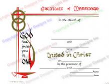 703 God has Joined You in One -  Marriage Certificate