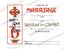 107 God is Love Abide in Love - Personalized Marriage Certificate