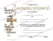 504 Spanish Certificate of Appreciation