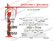 401 Pesonalized Spanish Baptism Certificate