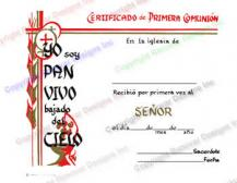 404 Personalized Spanish Communion Certificate