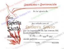 402 Spanish Personalized Confirmation Certificate