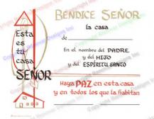 501 Spanish Home Blessing Certificate