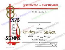 403 Personalized Spanish Marriage Certificate