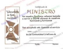 503 Spanish Certificate of Ministry
