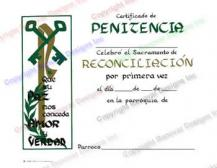 405 Personalized Spanish Penance Certificate