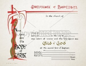 Personalized Baptism Certificate Child of God