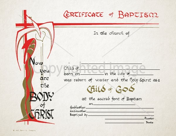 Child Of God  Personalized Baptism Certificate  Renovar Designs