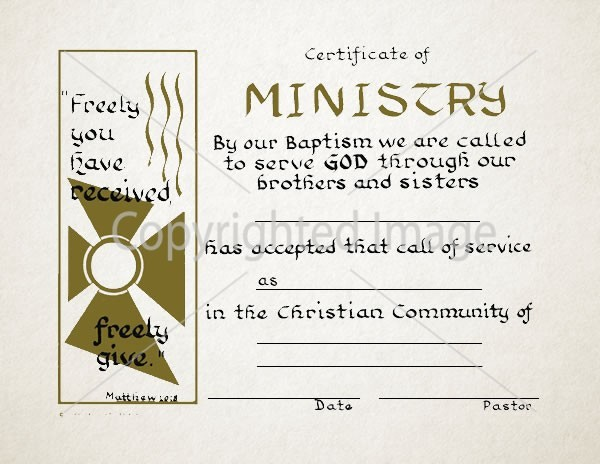Ministry Certificates