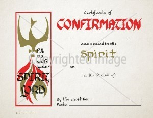 Personalized Confirmation Certificate - Spirit