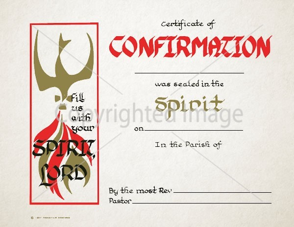 Personalized Confirmation Certificate – Spirit