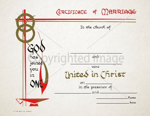 Personalized Marriage Certificate – 103