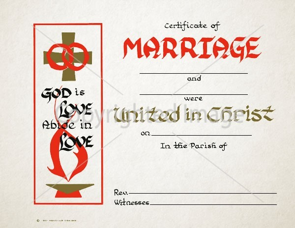 Personalized Marriage Certificate – 107