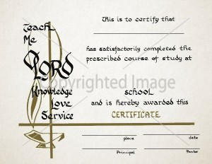 Personalized Religious Graduation Certificate