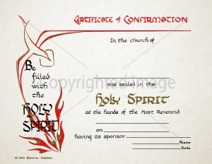 Confirmation Certificate - Holy Spirit