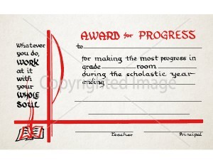 Award For Excellence School Certificate