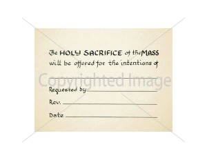Bread of Life Mass Card for the Living – inside