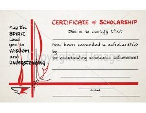 Certificate of Scholarship School Certificate