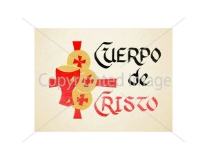 Cuerpo de Cristo Spanish Mass Card for the Living