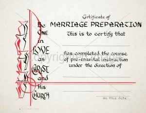 Marriage Preparation Certificate