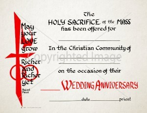 Mass Anniversary Wedding Certificate