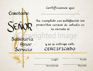 Personalized Spanish Graduation Certificate
