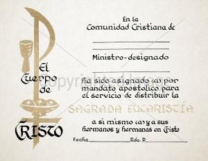 Spanish Eucharistic Mandate Certificate