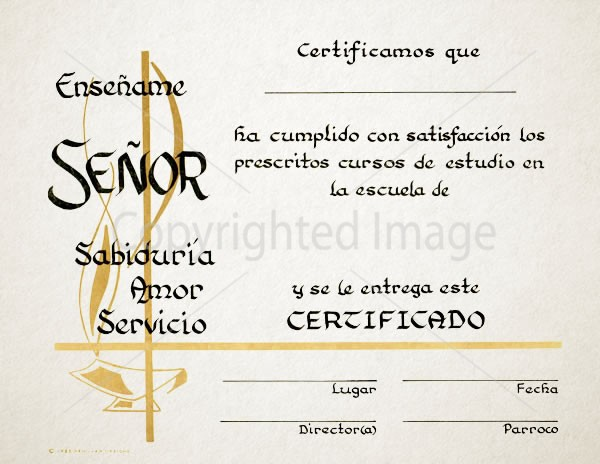 Spanish Graduation Certificate