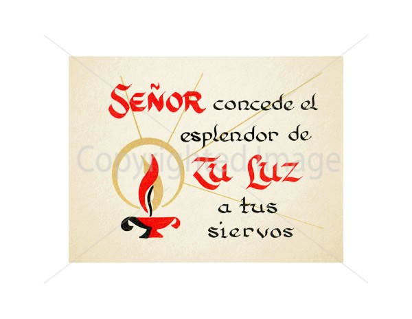 Tu Luz Spanish Mass Card of the Dead